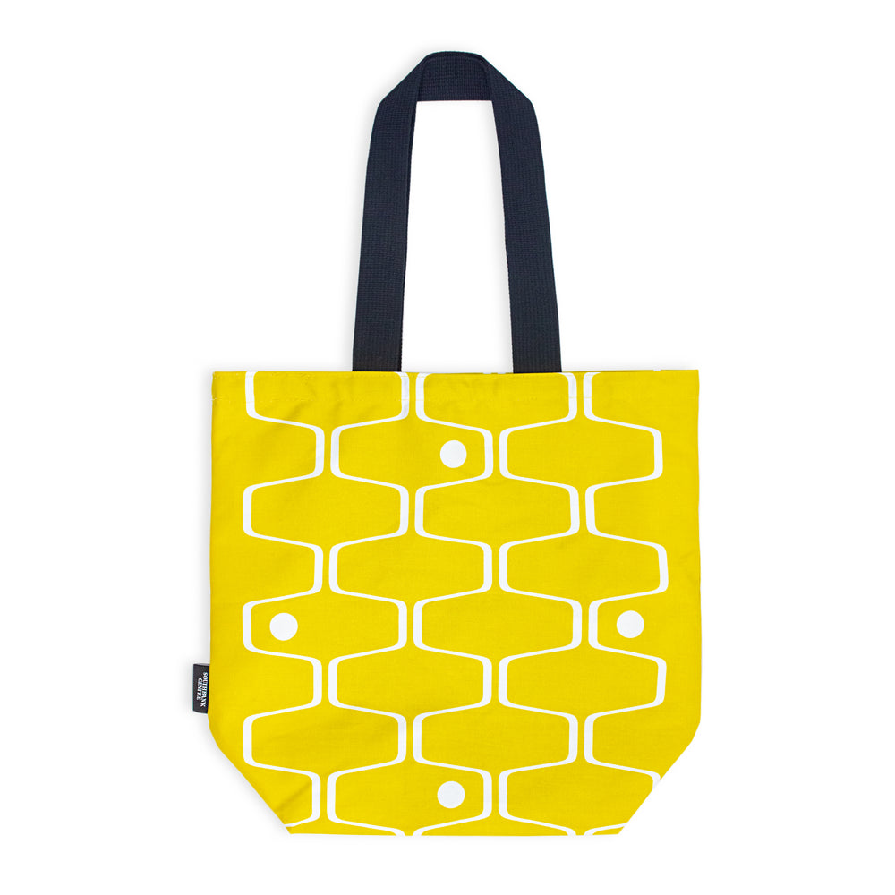 Mustard Net & Ball Tote Bag