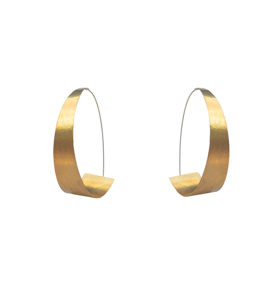 Gold Curl Hoop Earrings