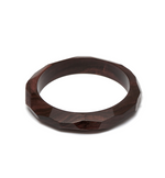 Faceted Rosewood Bangle