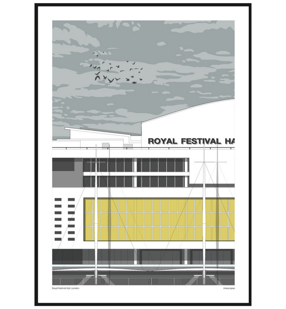 London Royal Festival Hall Sunrise Print