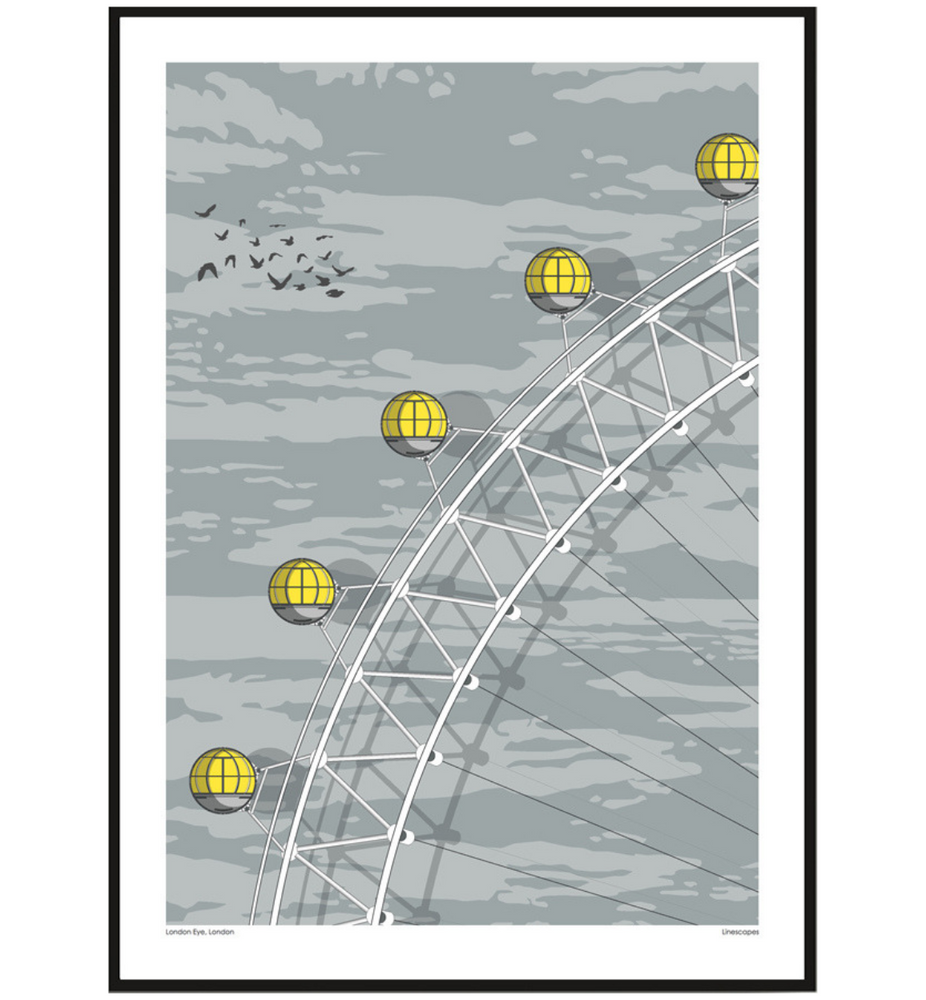 London Eye Print by Linescapes