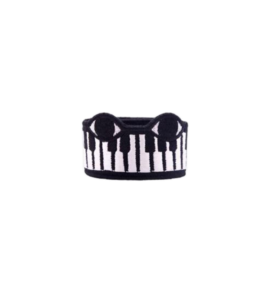 Piano Embroidered Bracelet