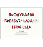 Royal Festival Hall Typography Print