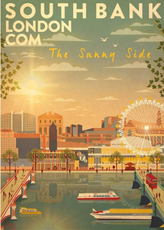 Southbank Sunny Side Poster