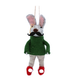Rabbit with Moustache Tree Decoration