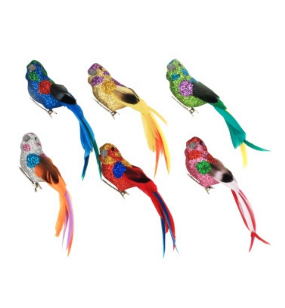 Bird Clip on Tree Decoration