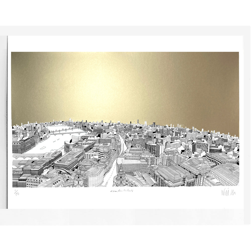 A View From St Paul's Cathedral Print