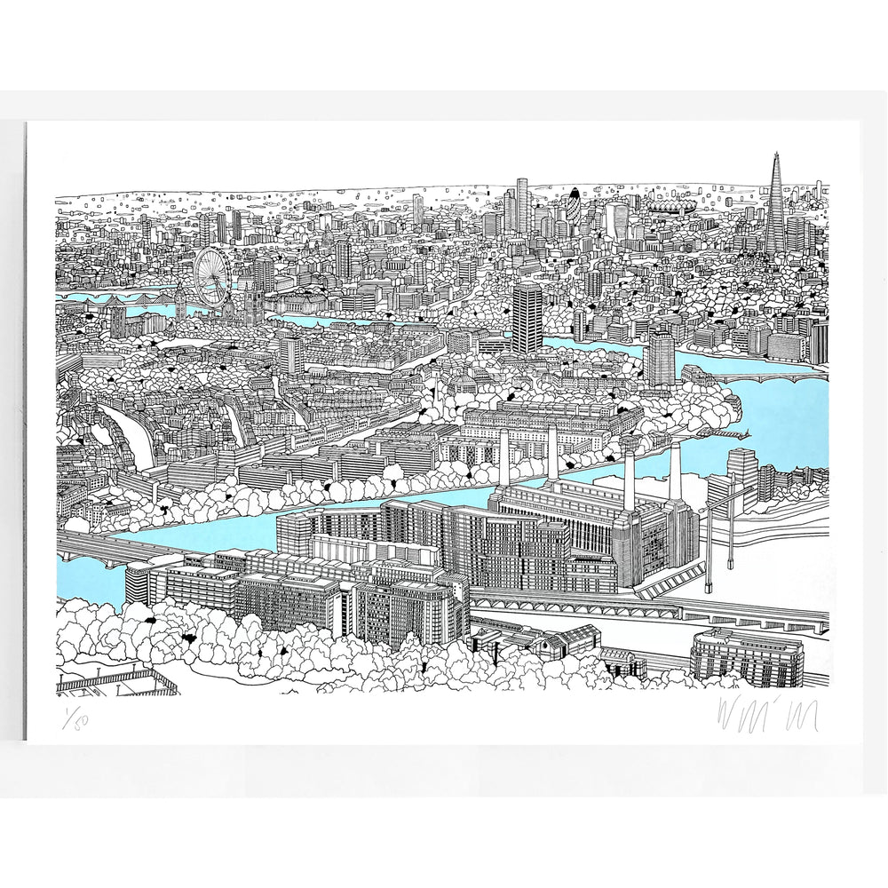 A View Over Battersea Print