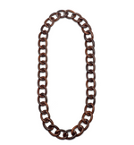 Rosewood Curb Link Necklace