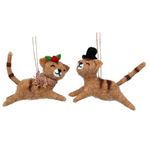 Wool Cat Christmas Tree Decoration