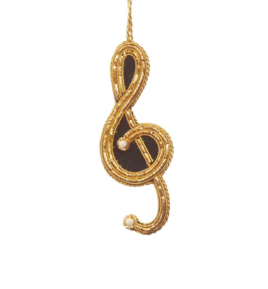 Embroidered Treble Clef Decoration