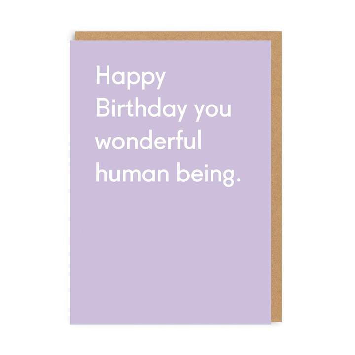 Wonderful Human Being Card