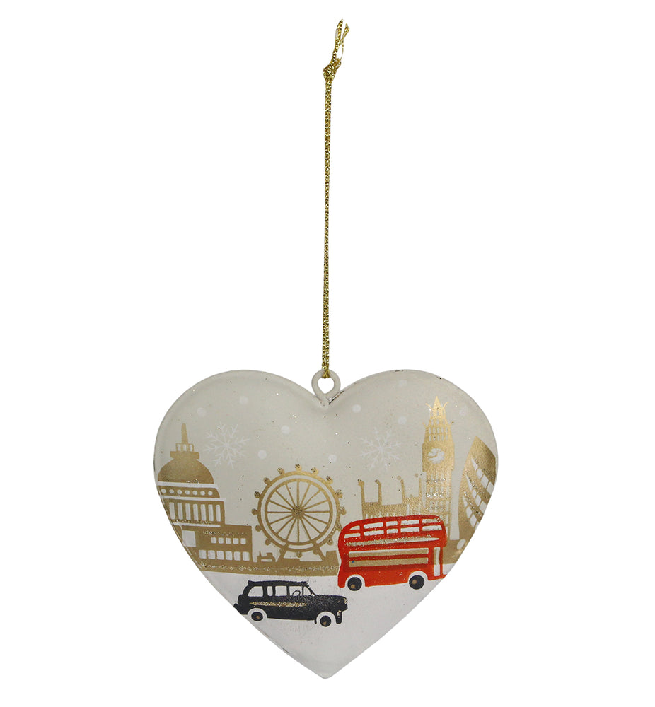London Heart Tin Decoration