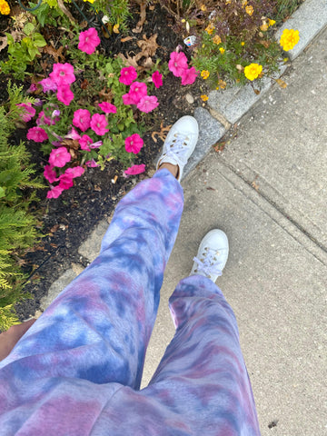 Hand-dyed Pride Sweatpants by Inn Tie Dye