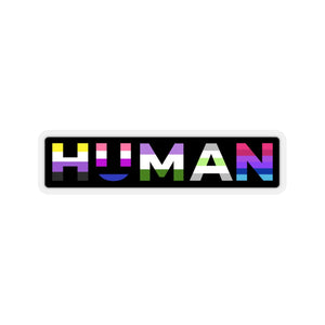 HUMAN Sticker - Power of Pride Collection (Non-Binary, Genderfluid, Genderqueer, Agender, Androgyne)