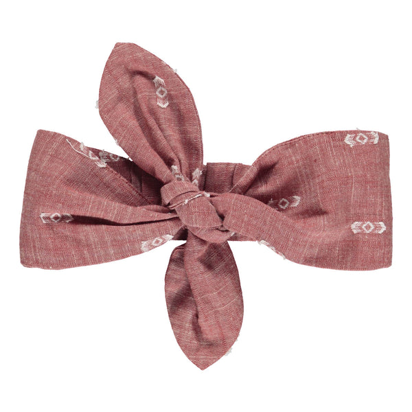 Lilly headband terracotta ikat
