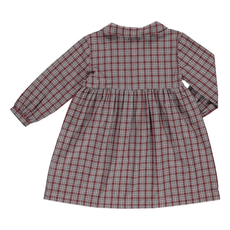 Josephine dress brown check