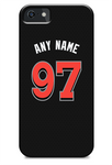 Miami Marlins Custom Black Alternate Jersey Phone Case