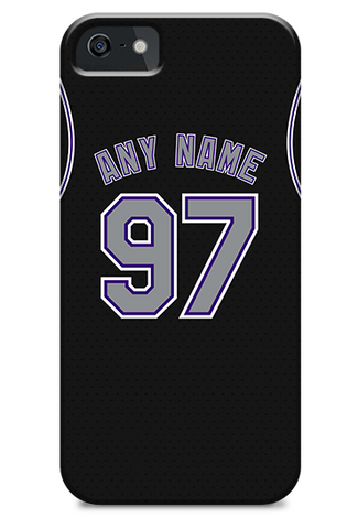 Colorado Rockies Custom Black Alternate Jersey Phone Case