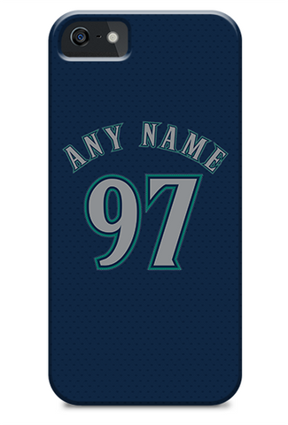 Seattle Mariners Custom Blue Alternate Jersey Phone Case
