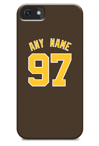 San Diego Padres Custom Brown Alternate Jersey Phone Case