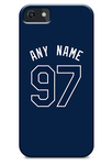 Tampa Bay Rays Custom Dark Blue Alternate Jersey Phone Case