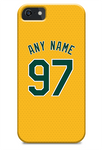 Oakland Athletics Custom Yellow Alternate Jersey Phone Case