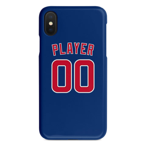 Chicago Cubs Blue Alternate Jersey Phone Case