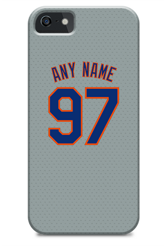 New York Mets Custom Away Jersey Phone Case