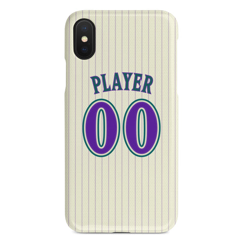 Arizona Diamondbacks Custom Throwback Jersey Phone Case