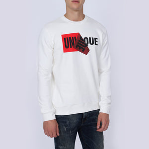 Be Versatile Men's Unique White Sweatshirt | Men's Unique White Sweatshirt | Crew Neck White Sweatshirt for Men | Graphic Printed Sweatshirt for Men