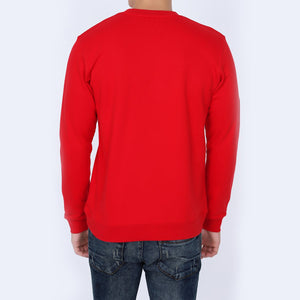 Be Versatile Red Unique Sweatshirt for Men | Men's Unique Graphic Printed Sweatshirt | Crew Neck Red Sweatshirt for Men