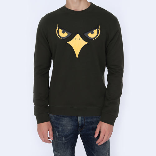 Men's Olive Green Color Sweatshirt |