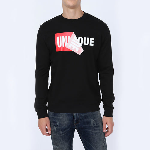 Be Versatile Black Unique Sweatshirt for Men | Men's Unique Graphic Printed Sweatshirt | Crew Neck Sweatshirt for Men