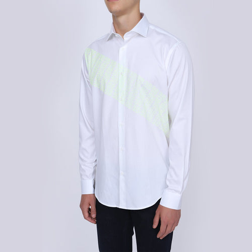 Men's Full Sleeve Casual White Shirt