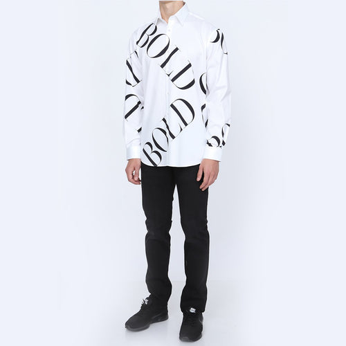 Be Impulsive Casual White Shirt for Men | Men's Full Sleeve Casual White Shirt | Casual White Shirt for Men