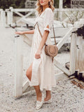 Bohemian Loose  V Neck Casual Dresses