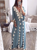 Bohemia Loose Beach Tassel Maxi Dress