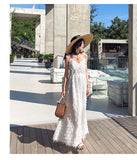 Feathers Halter Maxi Dress