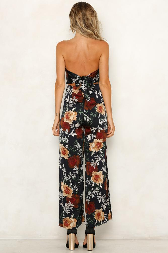 New Floral Print Vacation Casual Jumpsuit
