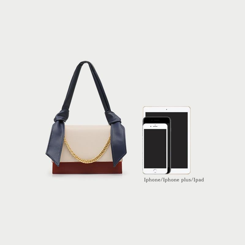 Portable Color Leather Small Square Bag