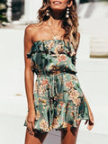 Falbala lace-up sexy vacation casual jumpsuit