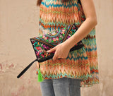 Women Ethnic Handmade Embroidered Wristlet Clutch Bag Vintage Purse Wallet Boho