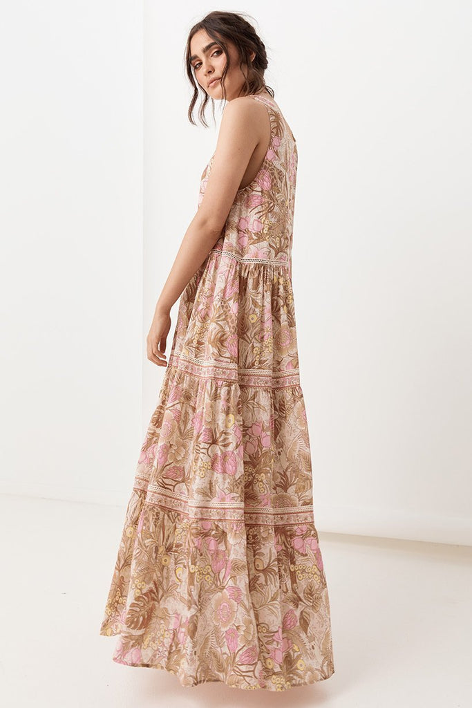 Bohemian Sleeveless Floral Long Boho Maxi Dress