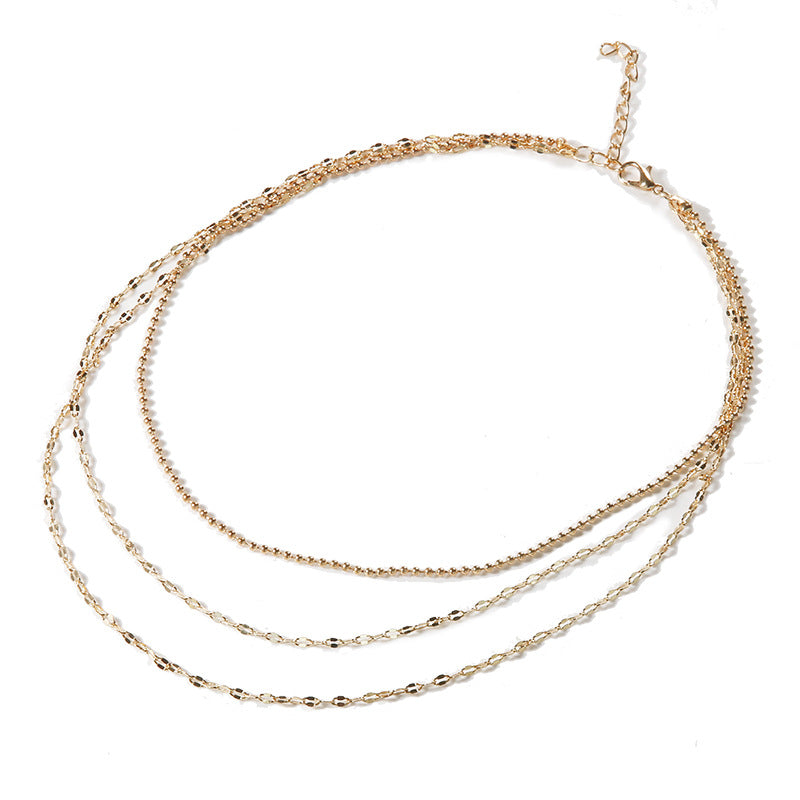 Vintage Multilayer Crystal Pendant Necklace