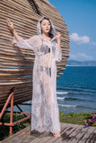 Holiday beach hooded blouse super fairy embroidered sunscreen clothing