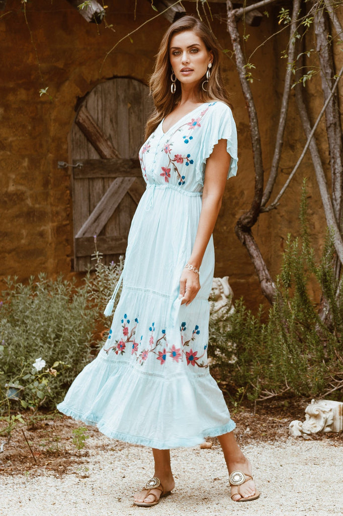 Embroidery Design Cross Border Bohemian Dress