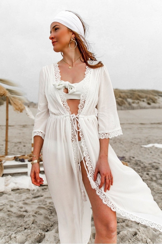 Lace beach frock for a beach Cover Ups