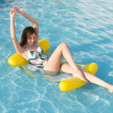 Water inflatable recliner Yellow Water Hammock