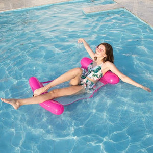 Pink Water inflatable recliner Water Hammock